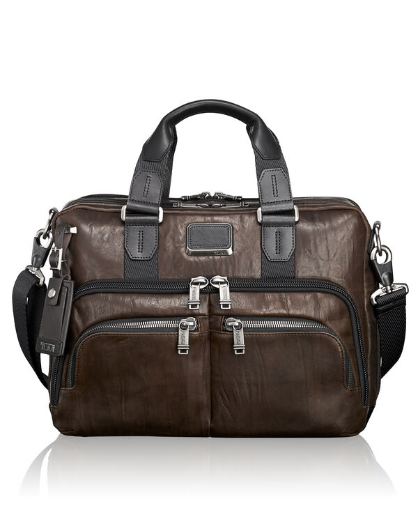Alpha Bravo Albany Slim Commuter Leather Brief