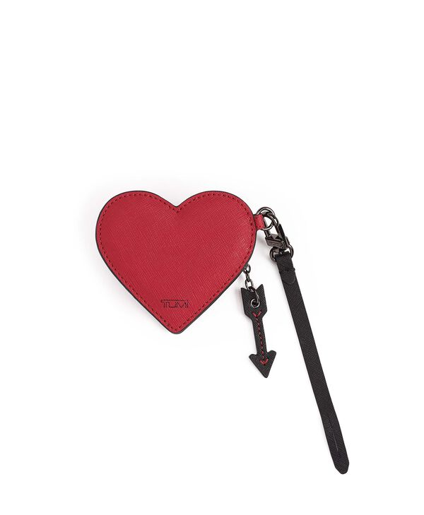 Tumi Womens Accents Heart Coin Pouch Charm