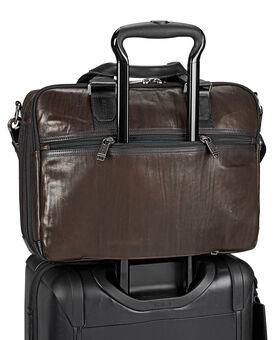 Albany Slim Commuter Leather Brief Alpha Bravo